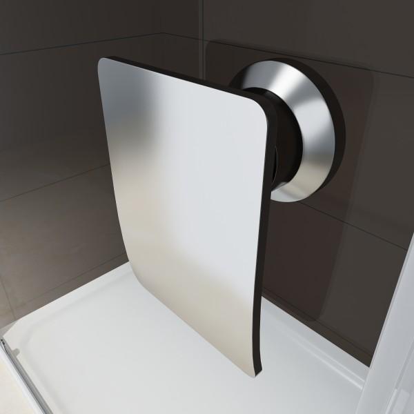 Duschabtrennung Schiebetür NANO Echtglas EX505 - Klarglas - Höhe 195cm - Breite wählbar zoom thumbnail 3