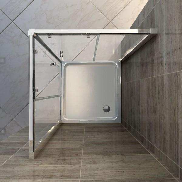 Duschtasse Duschwanne quadratisch Acryl - 80 x 80 cm inkl. Ablaufgarnitur