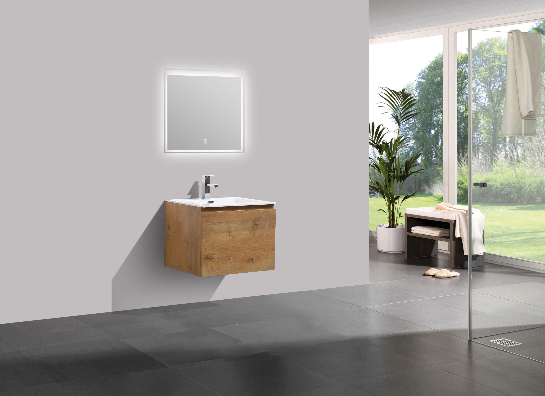 Badmöbel-Set Alice 600 Eiche - Spiegel optional