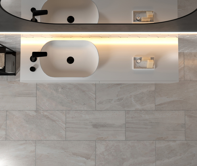 Aufsatzwaschbecken O-540 aus Mineralguss - Weiß matt - 54 x 34 x 10,5 cm zoom thumbnail 4