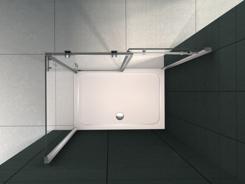 Duschtasse Duschwanne rechteckig - 100x80cm - inkl. Ablaufgarnitur zoom thumbnail 3