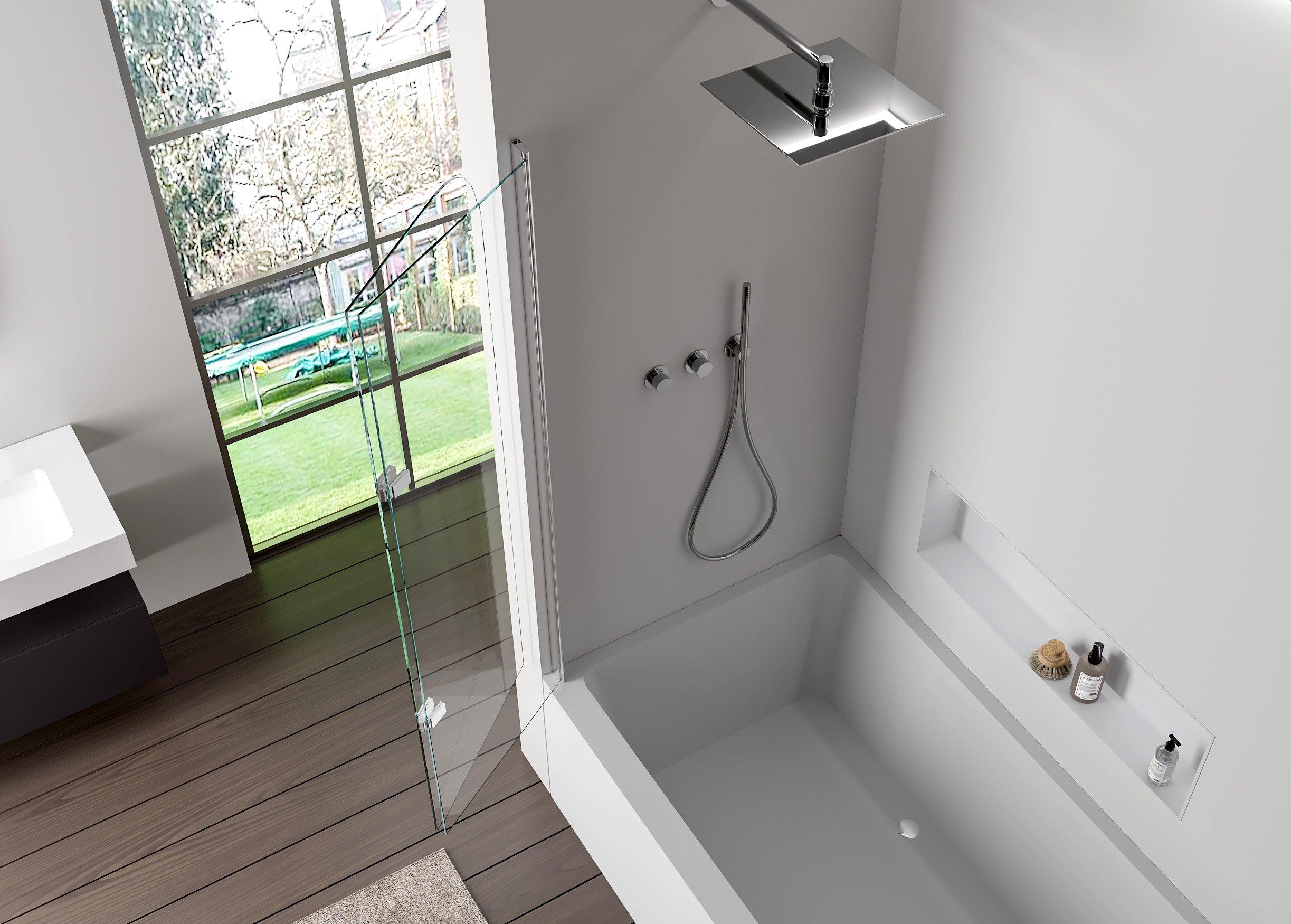 Duschabtrennung Duschwand Badewanne Nano Echtglas EX209 - 1200 x 1400 x 6 mm zoom thumbnail 3