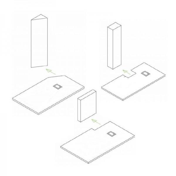 Duschtasse Duschwanne rechteckig GT-Serie aus SMC - Breite 80 cm - Größe und Zubehör wählbar zoom thumbnail 6