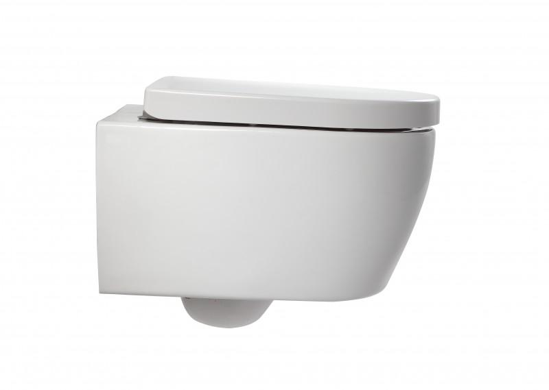 Spülrandloses Wand-Hänge WC NANO NT2038 - inkl. Softclose-Deckel - kurze Ausführung