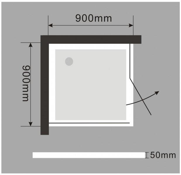 Duschtasse Duschwanne quadratisch - 90 x 90 cm inkl. Ablaufgarnitur zoom thumbnail 3