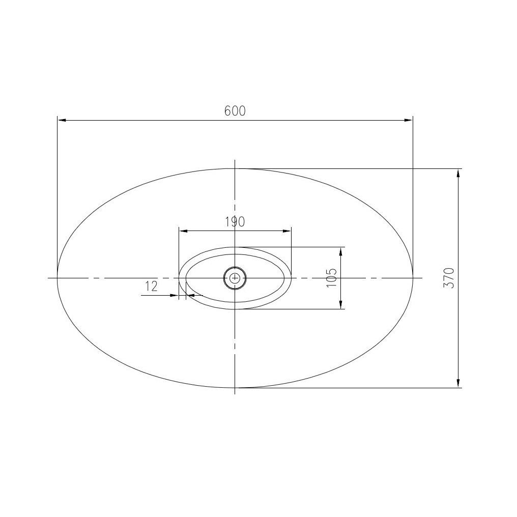 Mineralguss Aufsatzbecken Waschbecken WAVE PB2001 - 60x37x21cm - Wählbar in Matt oder Hochglanz zoom thumbnail 5