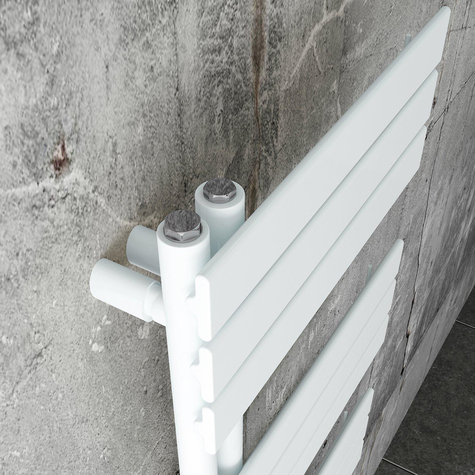 Design Badheizkörper Handtuchwärmer D16W in Weiß - Größe wählbar