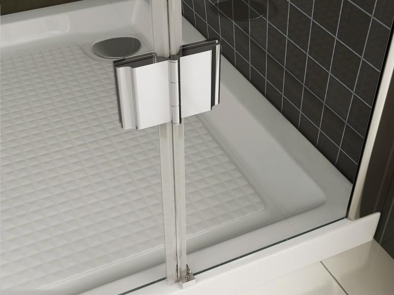 Duschabtrennung Nano Echtglas T801 / EX801 - 80 x 80 x 195 cm zoom thumbnail 5
