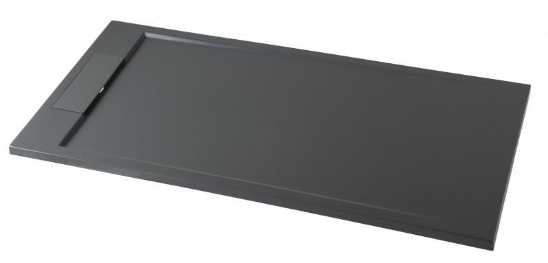 Mineralguss Duschtasse Duschwanne PB3085MG - Grau Matt - 120x90x3,5cm