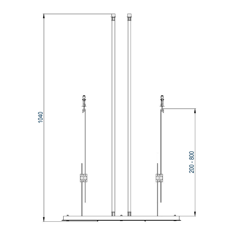 XXL-Regendusche Edelstahl-Deckenbrause DPG5017 superflach - 70 x 38 cm - Deckeneinbau zoom thumbnail 3
