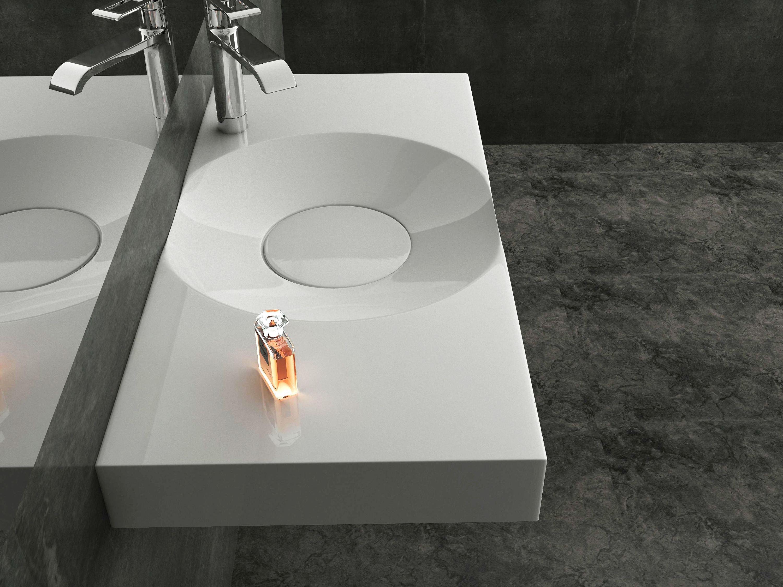 Wandwaschbecken Aufsatzwaschbecken BS6059 in Weiß - 100 x 48 x 10 cm  zoom thumbnail 3
