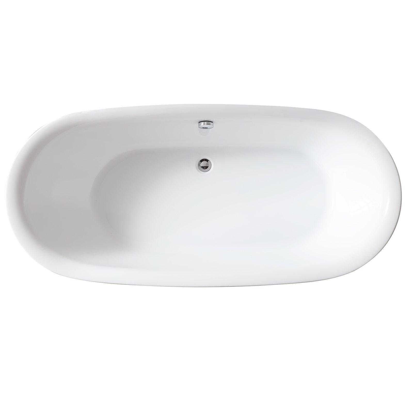 Freistehende Badewanne ROMA ACRYL weiß BS-916 180x84 inkl. Armatur 8028 zoom thumbnail 4