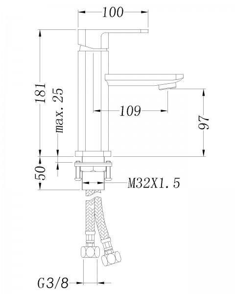 Design Waschtischarmatur 1233 zoom thumbnail 3