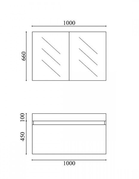 Badmöbel-Set A1000 Basic Walnuss inkl. Spiegelschrank zoom thumbnail 6