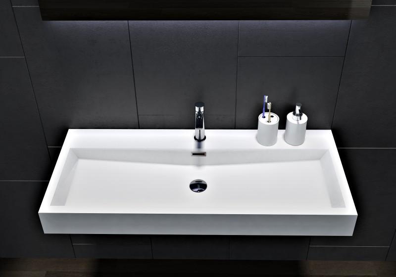 Wandwaschbecken Aufsatzwaschbecken BS6002 - Breite 76,5cm / 100cm zoom thumbnail 4