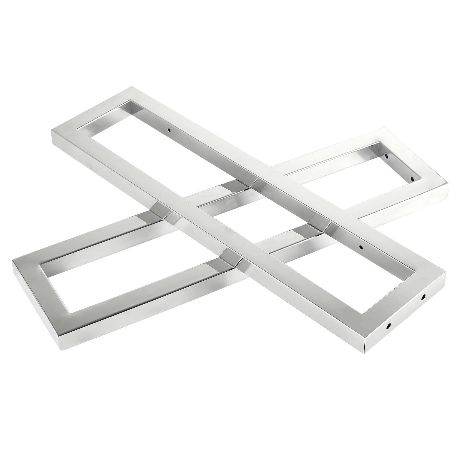 Design Wandhalterung Handtuchhalter für Waschtischplatte Counterboard SMART-Line - 2 Stück