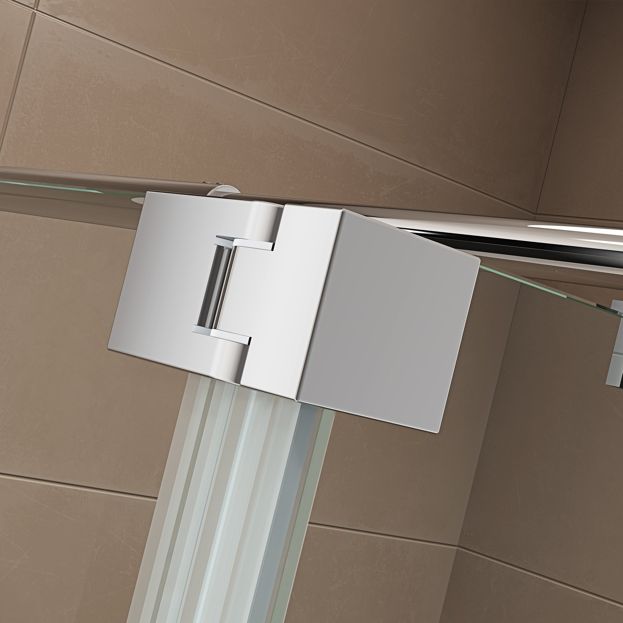 Duschabtrennung Walk-In-Dusche mit Spritzschutz NT109 8mm ESG-Glas  zoom thumbnail 4
