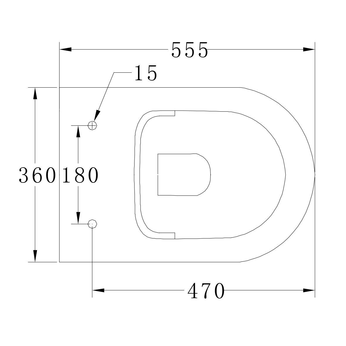 Spülrandloses Wand-Hänge WC B-8030R Weiß - mit Nano-Beschichtung - inkl. Softclose-Deckel zoom thumbnail 5