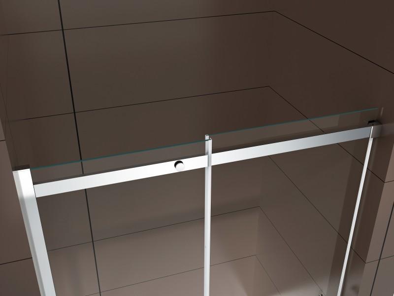Dusche für Nische mit Schiebetür DX806A FLEX - Nano ESG-Sicherheitsglas - Breite wählbar zoom thumbnail 6