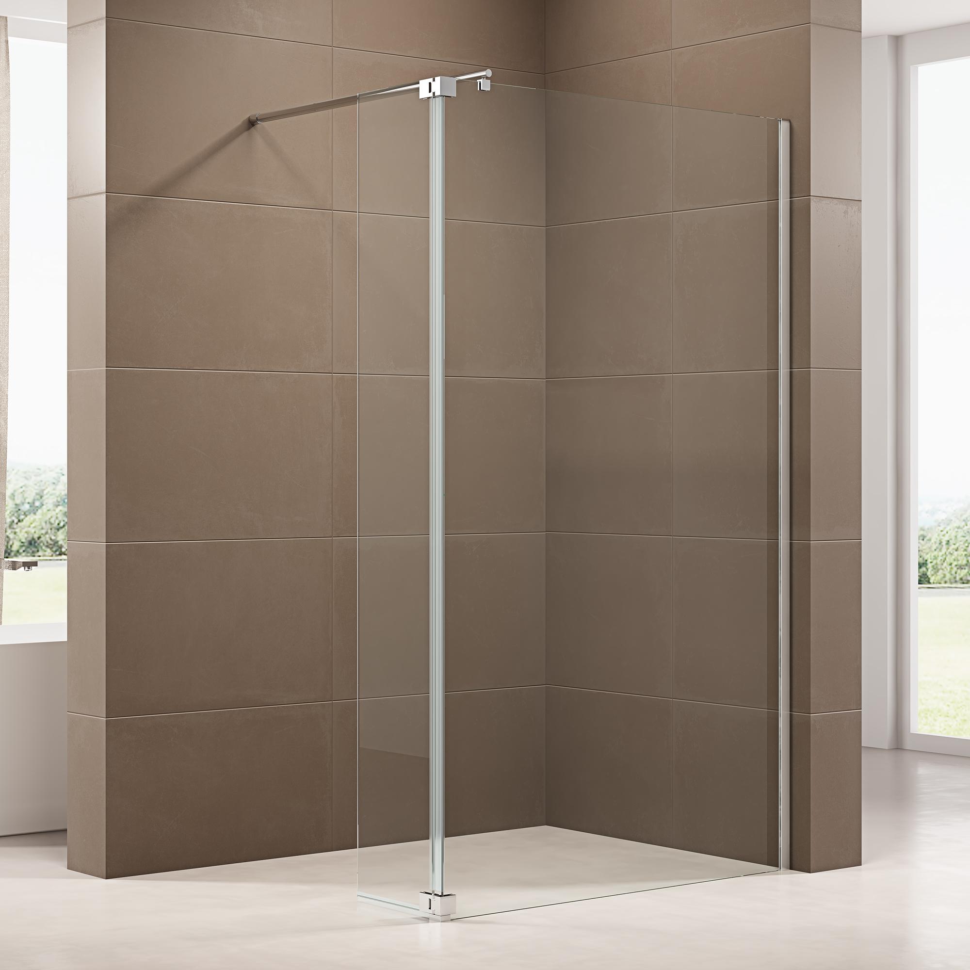 Duschabtrennung Walk In Dusche mit Spritzschutz NT20 20mm ESG Glas